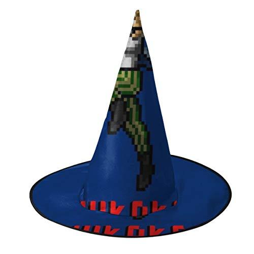 OJIPASD Ace Ventura Shikaka Sombrero de Bruja pixelado Unisex Disfraz para Vacaciones, Halloween, Navidad, Carnaval, Fiesta