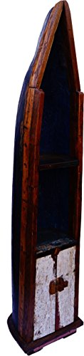 Guru-Shop Bootplank, Wijnrek, Boekenplank van Oude Scheepsromp 220 cm - Boot 8, Boeken-Wandplanken
