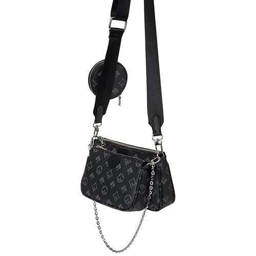 3 in 1 Luxus-Handtasche PU Leder Tragetaschen Fashion für Frauen Mahjong Bag Umhängetasche Schultertasche
