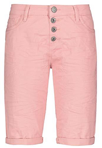 Stitch & Soul Damen Bermuda-Shorts mit Aufschlag Rose M