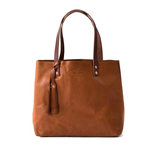 Brandy Leather Tote Bag For Women, Tan Leather Bag, Leather Handbag, Gift