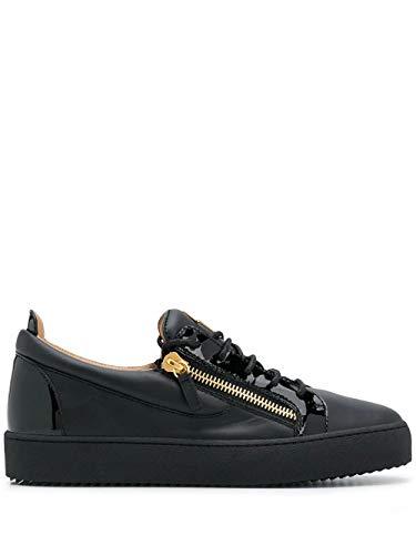 Giuseppe Zanotti Fashion Design Man RU00010003 Schwarz Leder Sneakers | Herbst Winter 20, Schwarz - Schwarz - Größe: 40 2/3 EU