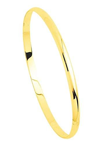 Armband Armreif Gelbgold massives 18 Karat - Dicke 4 mm Durchmesser 65 mm