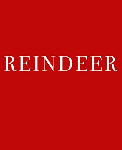 Reindeer: A decorative book for coffee tables, bookshelves and interior design styling | Stack deco books together to create a custom holiday message ... | Festive red (Christmas Book Shelf Decor)