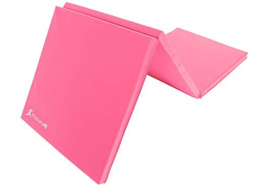ProsourceFit Tri-Fold Folding Exercise Mat - Pink