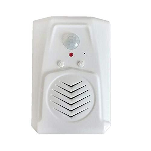 Sensor de movimiento timbre de la puerta interruptor de timbre MP3 sensor de movimiento inalámbrico de voz apuntador Bienvenido timbre de la puerta de entrada de alarma timbre de la puerta de Minister