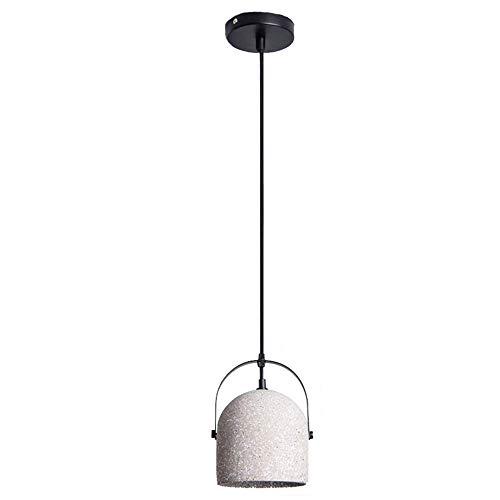 Cement kroonluchter retro beton plafondlamp loft smeedijzeren ledlicht creatieve persoonlijkheid graniet doorschijnend warm licht binnenverlichting restaurant slaapkamer woonkamer bedlampje, S