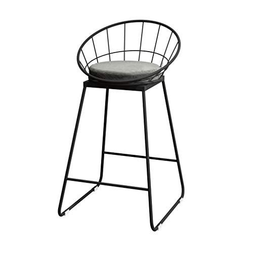 tabouret de bar DBL Chaise Tabourets Meubles de Salon Polyvalent Hauteur comptoir Robuste Construction Coussin Amovible Minimaliste Design Fer + Flanelle