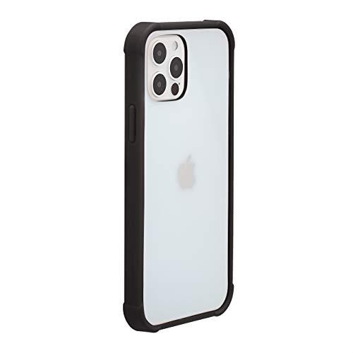 Amazon Basics – Funda para iPhone 12 y iPhone 12 Pro con protección antigérmenes, TPU (poliuretano termoplástico) y PC (policarbonato), negro
