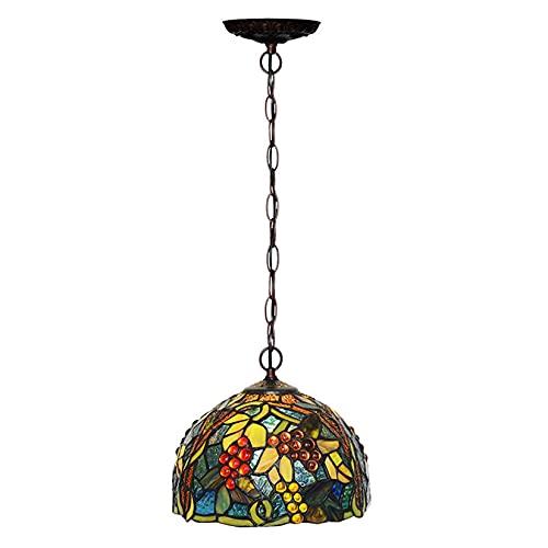 Luces Colgantes pequeñas de UVA Estilo Tiffany de 8 Pulgadas, pastorales, Ajustables, para pasillos, Luces de Isla, Arte, vitral, lámpara Colgante para Comedor, Cocina, cafetería,