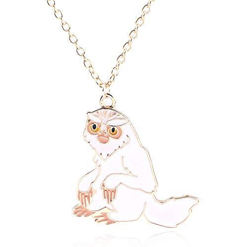 DYKJ Animales fantásticos Grindelwald Demiguise Sloth Colgante Collar HP Potter Collares Largos para Mujeres Hombres Llavero Gargantilla Joyería