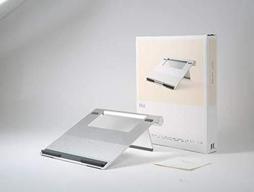 Pallo Pout Eyes 3 - Soporte portátil de Aluminio Plegable, pie de Goma Antideslizante, antisobrecalentamiento, Compatible con Macbook Pro, MacBook Air, Samsung, Otros portátiles de 17' (Plata)