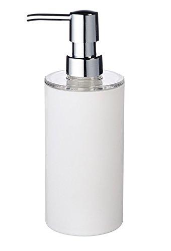 Ridder 20035010 Distributeur de Savon Touch Synthétique Blanc 6,7 x 6,7 x 19 cm