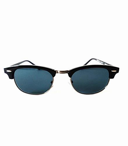 NEWQUEVEDOS-Gafas Estilo Clubmaster negras y plateadas con Lentes Gris 029C01. AHORA 19,47 EUROS