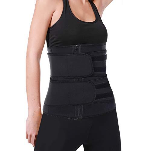 SCOBUTY Waisttrainer,Bauchgürtel Abnehmen,Bauchgürtel Schwitzgürtel,Fitnessgurte,Sportgürtel,Schwitzgürtel zur Fettverbrennung, Verstellbarer Bauchweggürtel zum Abnehmen für Herren und Damen-4XL