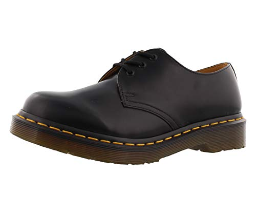 Dr. Martens, Women's 1461 3-Eye Leather Oxford Shoe, Black Smooth, 10 M US