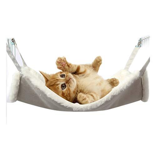 Hamaca para Mascotas Hamaca Mascota, ambas Partes se Pueden Colgar for Uso en la Jaula, la Jaula de Cama Suave del Animal doméstico del Gato Hamaca-Varios tamaños de Color Gris Hammock (tamaño : S)