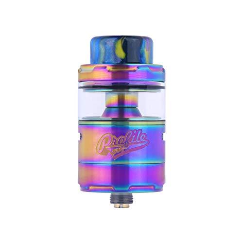 Wotofo Profile Unity RTA Atomizer, E Zigarette Verdampfer 3.5ml 510 Thread mit OFRF nexMesh coil Verdampferköpfe Ohne Nikotin Ohne Tabak (Rainbow)