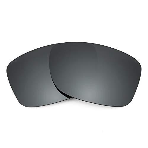 Revant Revant Ersatzgläser für Oakley Jupiter Factory Lite - Kompatibel mit für Oakley Jupiter Factory Lite, Polarisiert, Schwarz Chrome MirrorShield