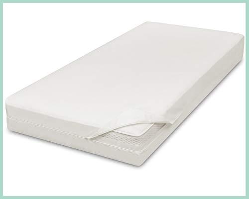 allsana Sensitive Care Housse de matelas 90 x 200 x 30 cm pour matelas à sommier tapissier, housse de matelas anti-acariens avec épaisseur extra haute