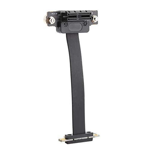 GOEI Cable Ethernet, PE + Cobre Estañado + TPE Cable De Extensión De Diseño De Doble Dirección Vertical De 90 ° con Pernos Y Tuercas para Adaptador De Red para Servidor