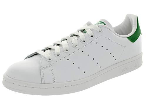 adidas ORIGINAL'S Stan Smith Scarpe Senior Bianco e Verde, 43 1/3