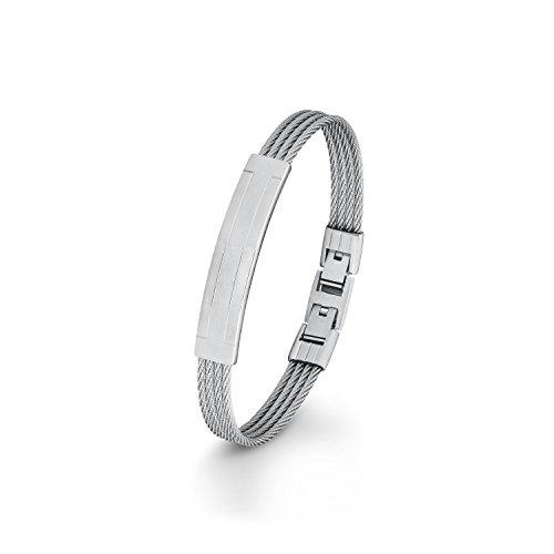 s.Oliver Herren-Armband verstellbar Klappverschluss Edelstahl 21.5 cm