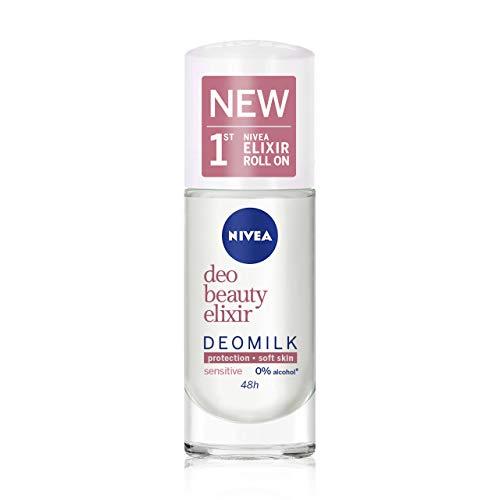 Nivea DeoMilk Sensitive Beauty Elixir Desodorante Roll On, 40ml