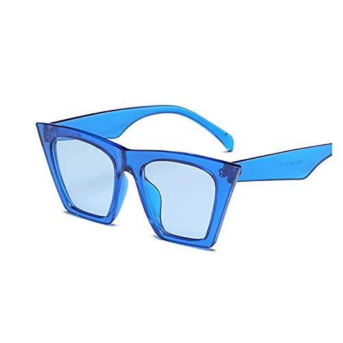 Moda Negro Gato Ojo Gafas de Sol Mujeres diseñador de Marca Sexy Elegante Sol Gafas para Las Mujeres Tonos de Revestimiento Femenino UV400 (Lenses Color : Blue)