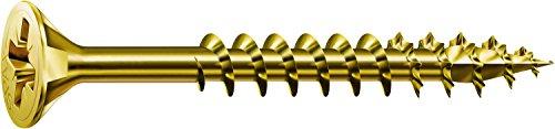 SPAX Universalschraube, 4,5 x 40 mm, 200 Stück, Kreuzschlitz Z2, Senkkopf, Teilgewinde, 4CUT, YELLOX, 0291020450403
