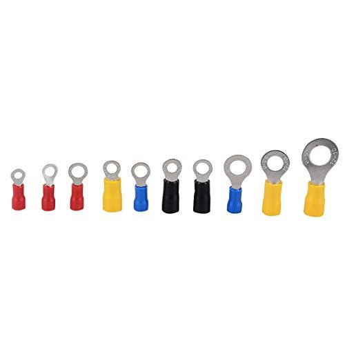 WFBD-CN Batterieklemmen Elektrischer Ring Terminal-Crimp-Verbindungs Kit mit Box, Kupferdraht Insulated Cord Pin End Hintern