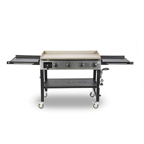 PIT BOSS PB757GD 4 Burner Gas Cast Iron Griddle, Black