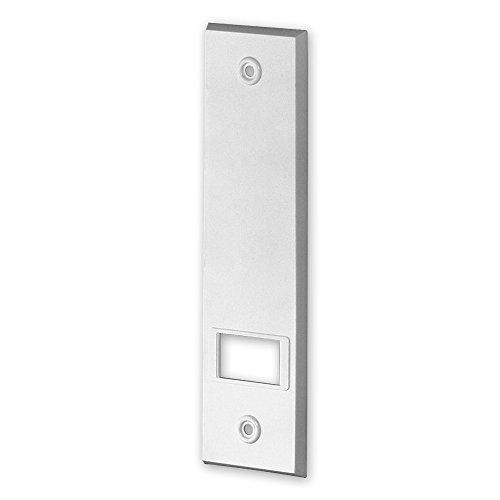 Deckplatte für Einlass-Gurtwickler 'M', Verfügbare Farben: weiß, braun, Lochabstand: 160 mm, Abmessungen: 199 x 54 x 7 mm, für Gurtbreite: 23 mm, von EVEROXX, Farbe:weiß