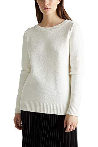 ESPRIT 010ee1i335 Felpa, Bianco (off White 110), X-Small Donna