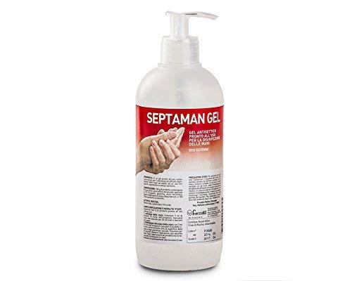 SEPTAMAN 500 ml gel igienizzante per mani senza risciacquo pronto per l'uso tipo amuchina cod. PH006