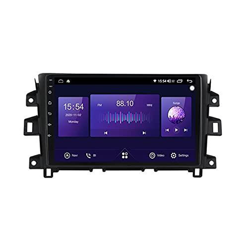Android 10 Car Multimedia System Vehicle Audio Bluetooth Car Radio Para Nissan Navara NP300 2011-2016,Con Pantalla Táctil De 9'' Enlace Espejo 5Ghz Wifi GPS Mandos De Volante Cámara Trasera,A,4G+64G