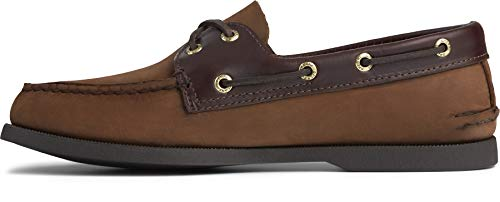 Sperry mens A/O 2 Eye Boat Shoe, Brown Buck, 9 US