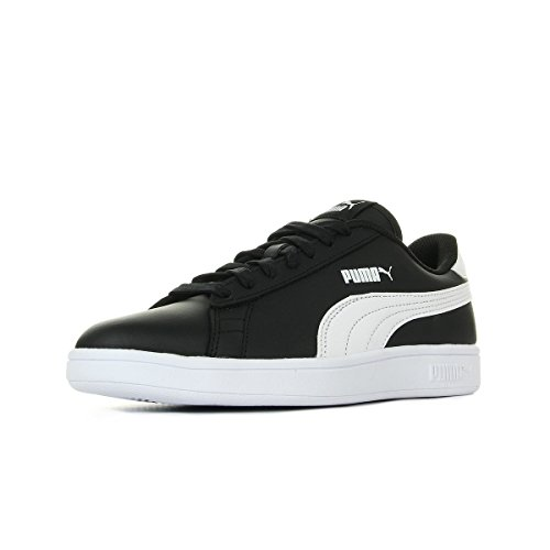 PUMA Unisex Smash v2 L Jr Sneaker, Black White, 37 EU