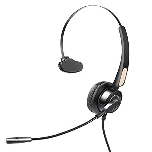 Auriculares USB para PC para Empresas, Auriculares Mono superligeros con cancelación de Ruido con micrófono para teléfono Inteligente, Centro de Llamadas de Oficina, Chat cristalino