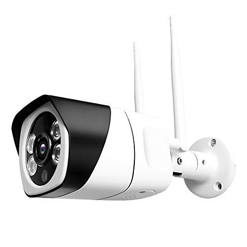 Cámara de videovigilancia Bullet IP WiFi inalámbrica de 3 megapíxeles 1080P para DVR/NVR para Uso Interior y Exterior con alimentador Incluido visión Nocturna 20/30 Metros con Entrada Micro SD