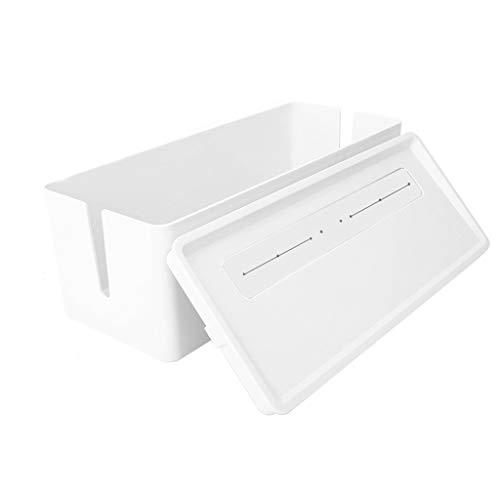 Router storage box Caja De Almacenamiento del Enrutador Cubierta Superior Semi Inclinada Y Separada, 6 Orificios Superiores, Salida De Cable De Carga De Goma Suave