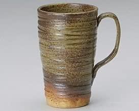 World Ceramic Japanese Mino-yaki Ceramic Large Mug Cup - Bizen Green Glaze 268-346