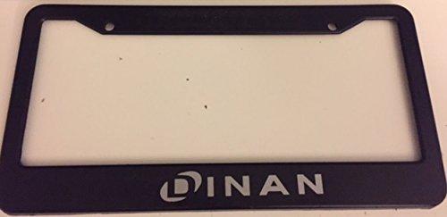 Stickysight.com Dinan - Automotive Black with Grey License Plate Frame - Racing Turbo M2 M3 M4 M5 M6