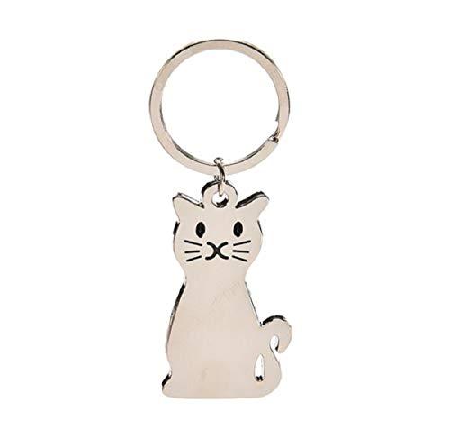 Katze silberfarben Schlüsselanhänger Kater   Geschenk   Frauen   Damen     Haustier   Kätzchen