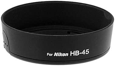 Fotodiox Lens Hood for Nikon 18-55mm f/3.5-5.6 AF-S, AF-S II, G, VR (Not 18-55mm VR II), Replaces Nikon HB-45 Snap-On Lens Hood