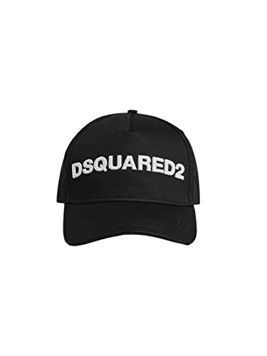 Dsquared2 Dsquared Cappello Baseball Uomo Gabardine Nero Bianco