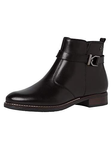 Tamaris Damen Stiefeletten, Frauen Ankle Boots, Woman Freizeit leger Stiefel halbstiefel Bootie knöchelhoch reißverschluss Lady,Black,40 EU / 6.5 UK