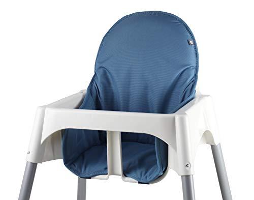Tinydo Hochstuhl-Sitzkissen optimal für IKEA Antilop mit Memory-Schaum-Dämpfung Sitzverkleinerer-Auflage für Babystühle rutschfest pflegeleicht (Blau)