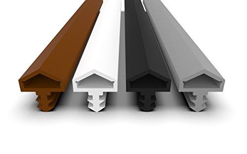 Türdichtung Weiß 5m - 4mm Nutbreite / 7mm Nuttiefe / 12mm Falz - Antidehnungsfaden Haustürdichtung Türanschlagdichtung Zimmertürdichtung (weiss 5m)