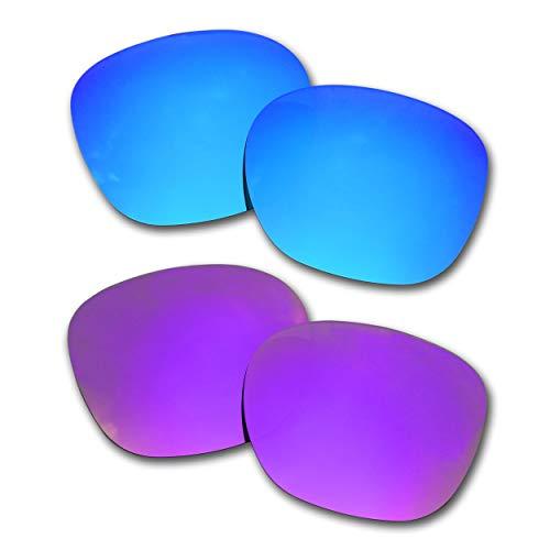 SOODASE Für Oakley Garage Rock Sonnenbrillen Blau/Lila 2 Paare Polarisierte Ersatzgläser